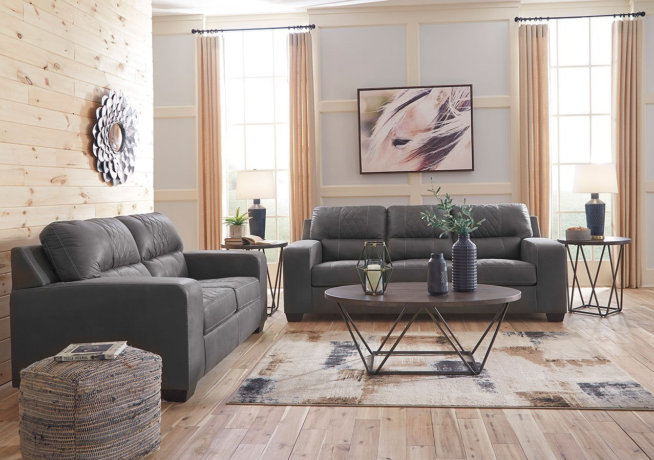 Narzole Dark Gray Living Room Set Signature Design By