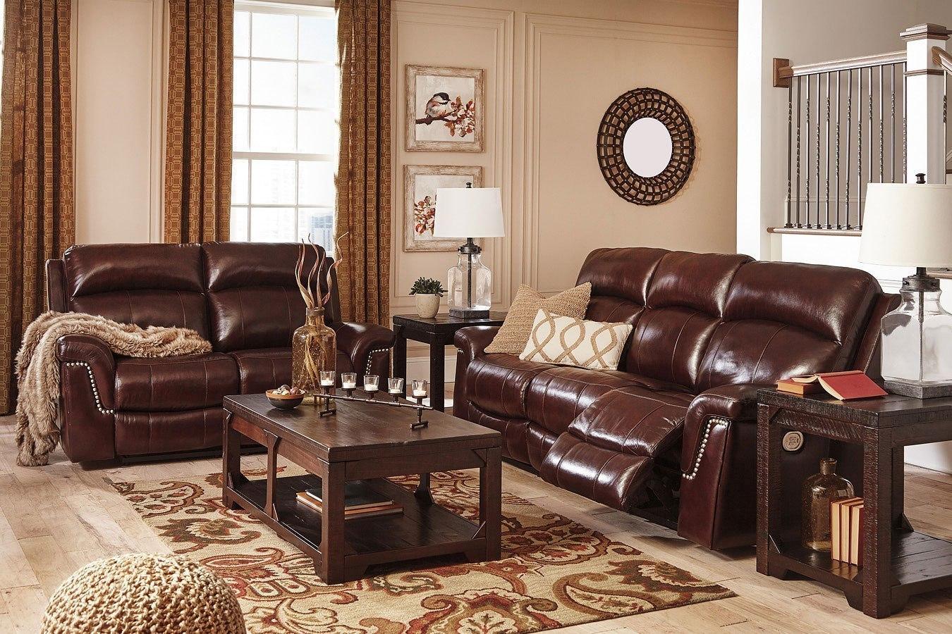 Timmons Burgundy Power Reclining Living Room Set