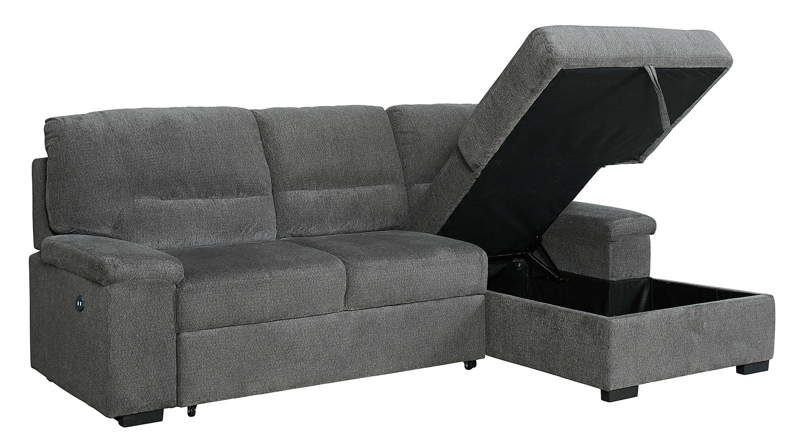 - Yantis Gray Right Chaise Sofa W/ Pop-Up Bed Signature Design