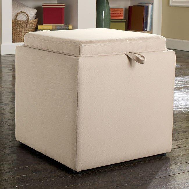 Cubit - Stone Ottoman w/ Flip Top (1 Cube Inside)