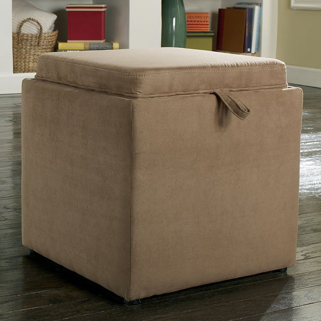 Cubit - Mocha Ottoman w/ Flip Top (1 Cube Inside)