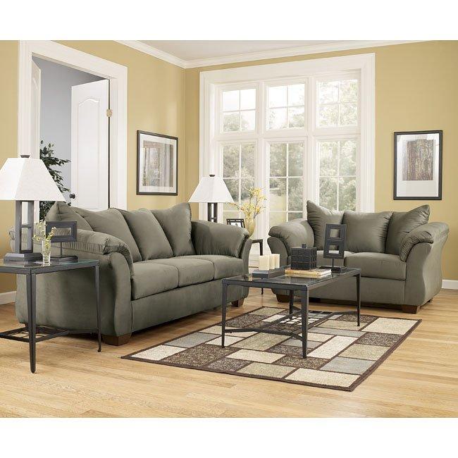 Ashley Furniture Darcy Sage Chair: Sage Living Room Set Signature Design, 1 Reviews