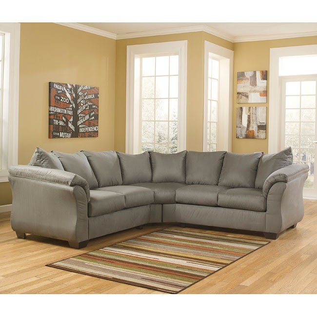 Darcy Cobblestone Sectional Signature Design Furniture Cart