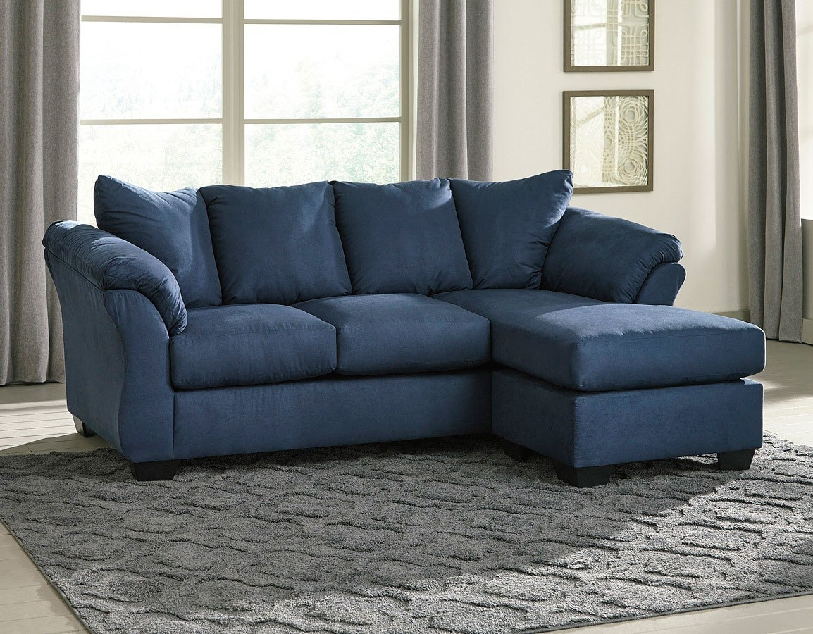 Darcy Blue Sofa Chaise Signature Design, 1 Reviews | Furniture Cart