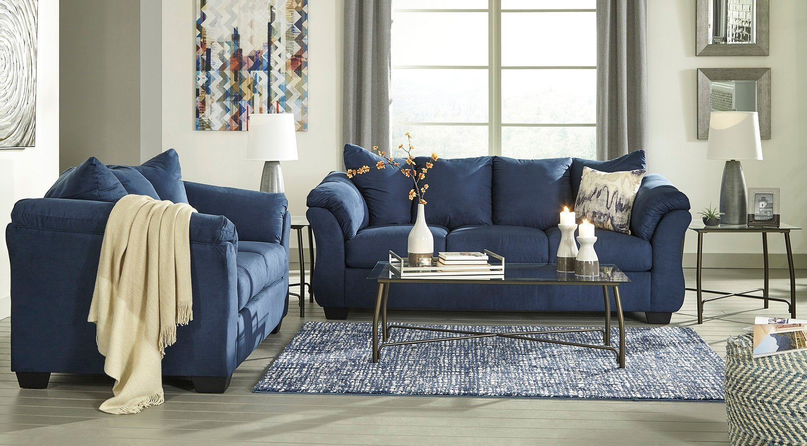 Darcy Blue Living Room Set Darcy Blue