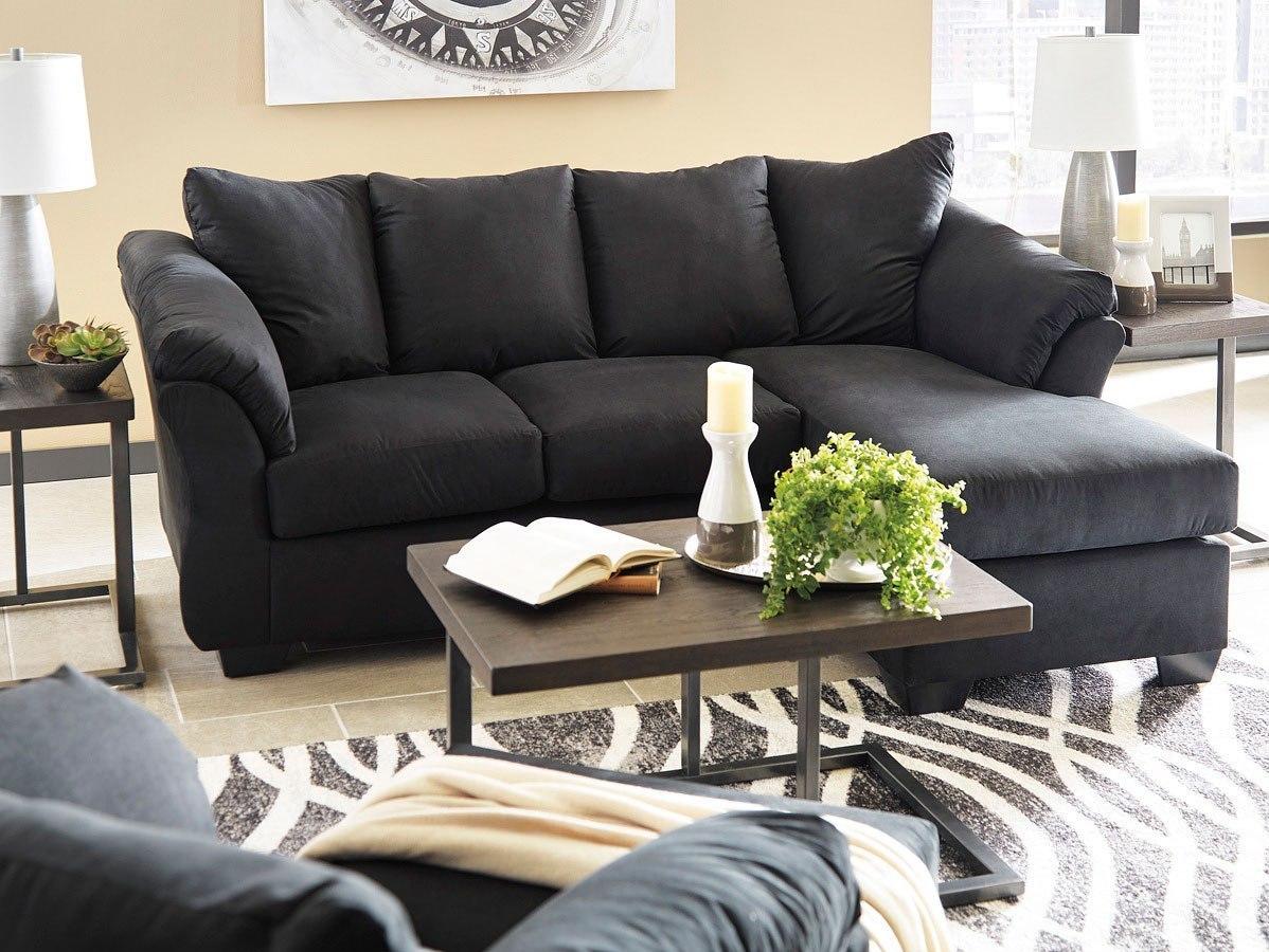Darcy Black Sofa Chaise Living Room Set Signature Design
