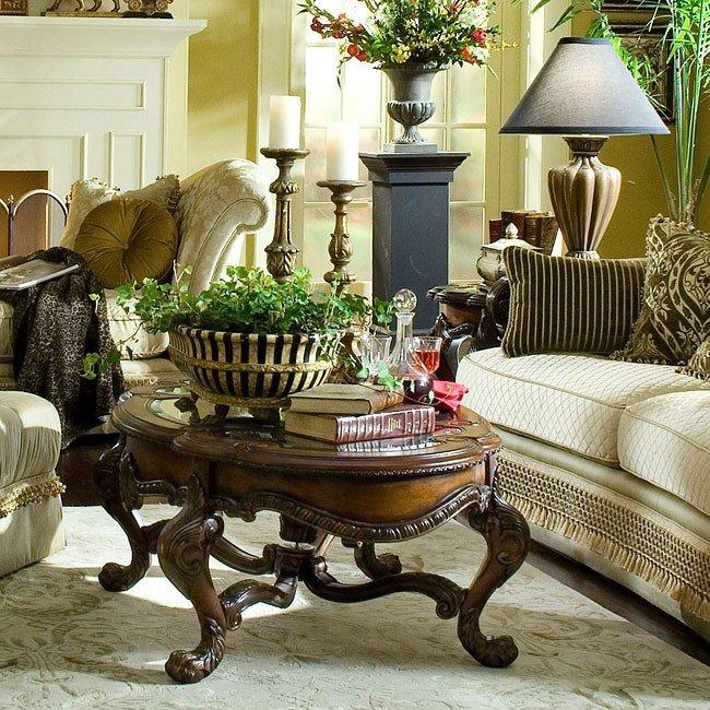 Chateau beauvais occasional table set aico furniture - Chateau beauvais living room furniture ...