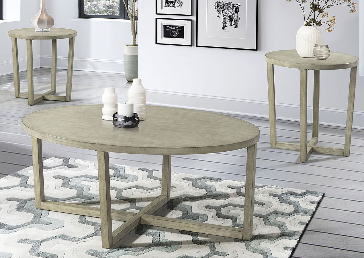 Incredible Mushroom Wire Brushed 3 Piece Occasional Table Set Download Free Architecture Designs Crovemadebymaigaardcom