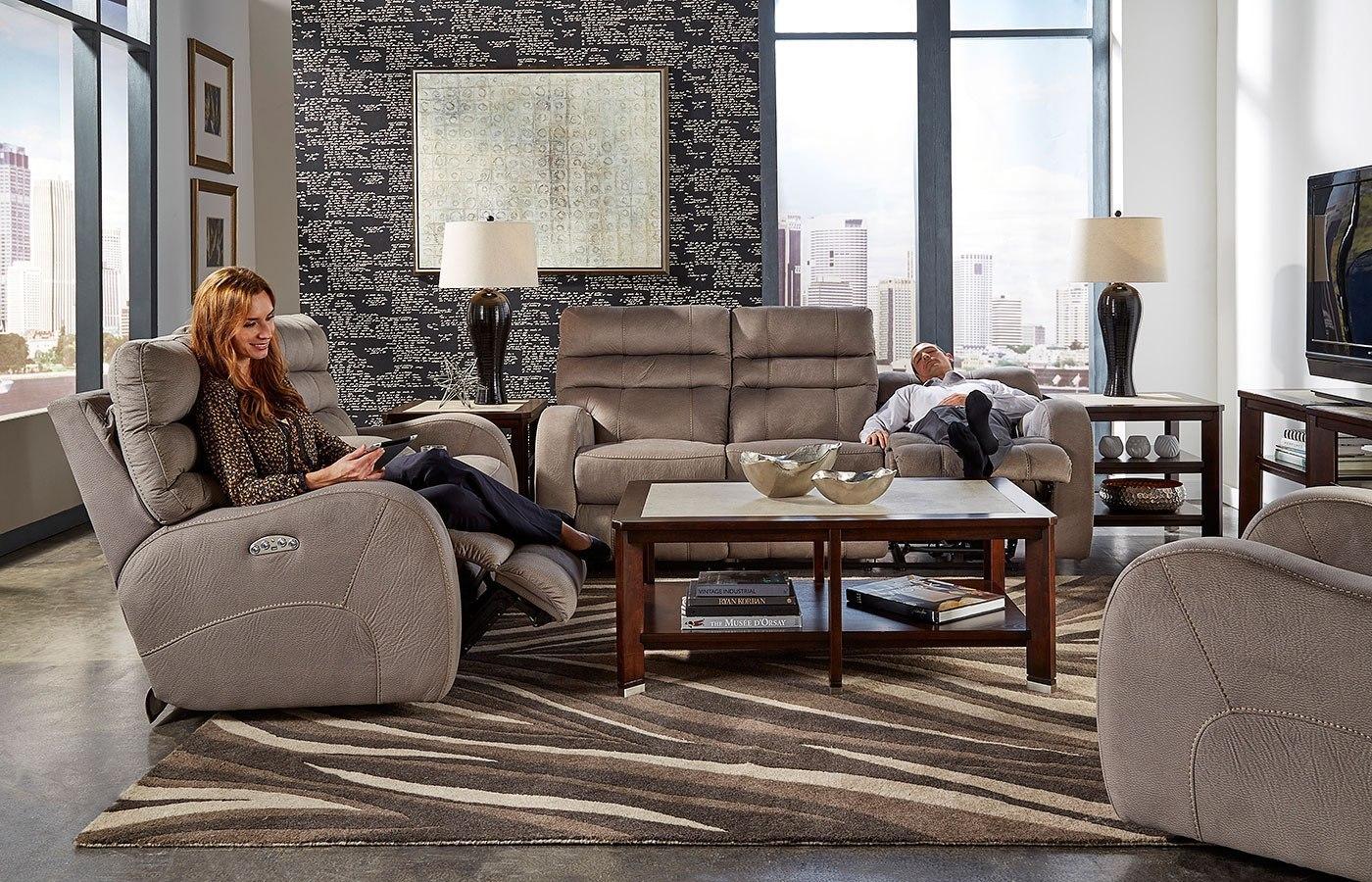 Kelsey Power Lay Flat Reclining Living Room Set W Power