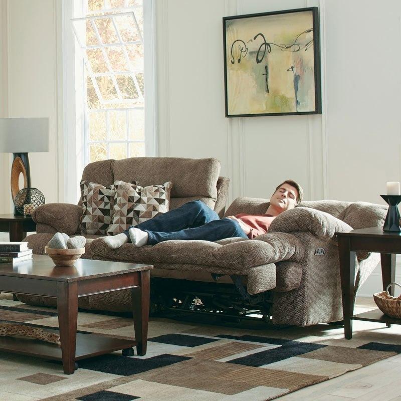Brice Power Lay Flat Reclining Sofa W Power Headrest And Lumbar
