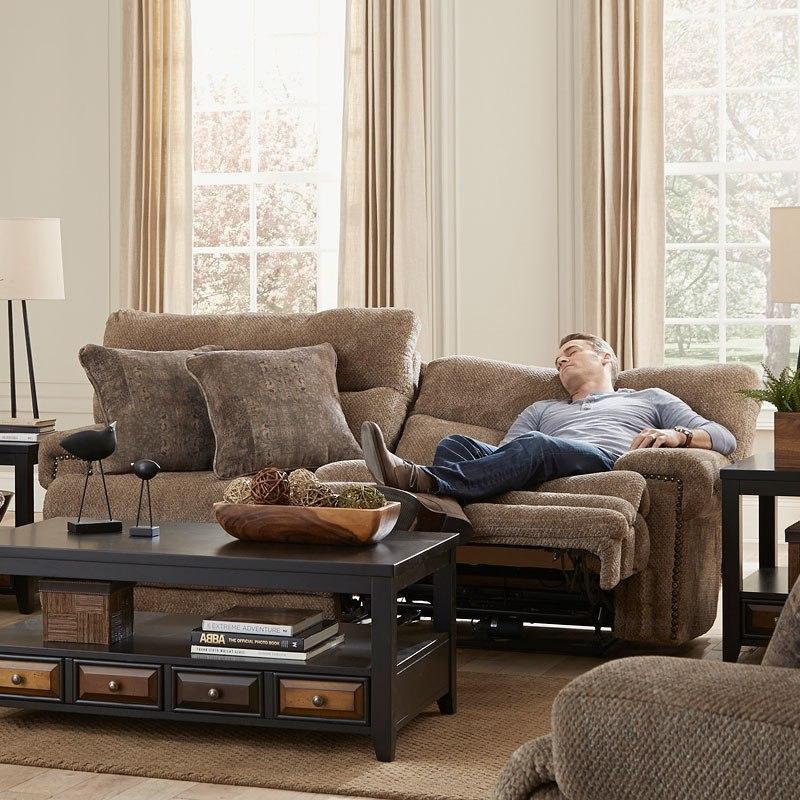 Garrison Power Lay Flat Reclining Sofa W/ Power Headrests And Lumbar ...