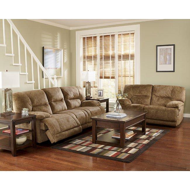 Gladiator - Nutmeg Reclining Living Room Set
