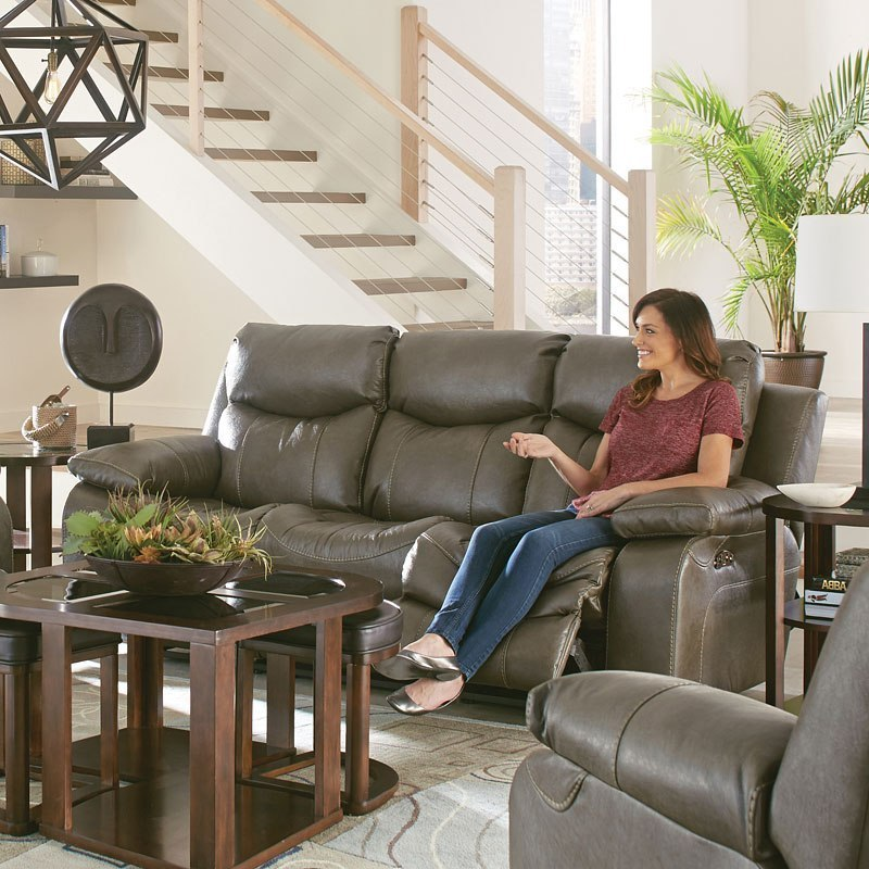 Connor Power Lay Flat Reclining Sofa W/ Drop Down Table