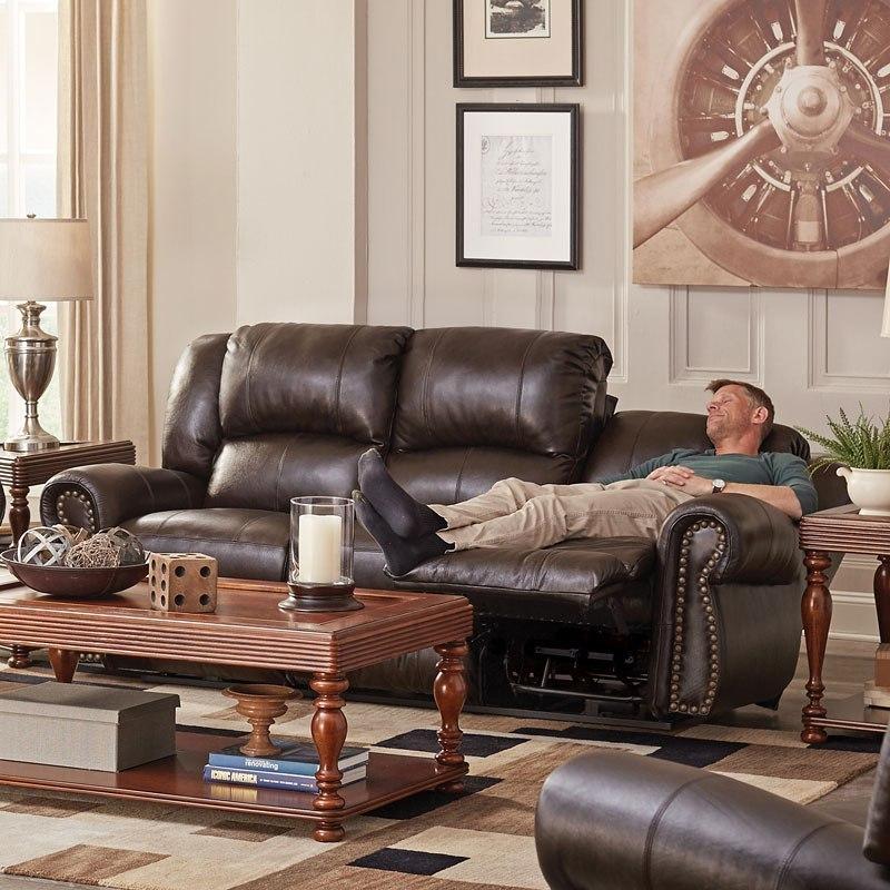 Messina Power Lay Flat Reclining Sofa W/ Power Headrest And Lumbar ...