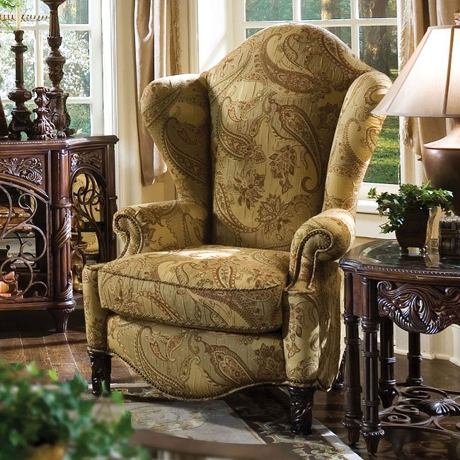 Es Manor High Back Wing Chair