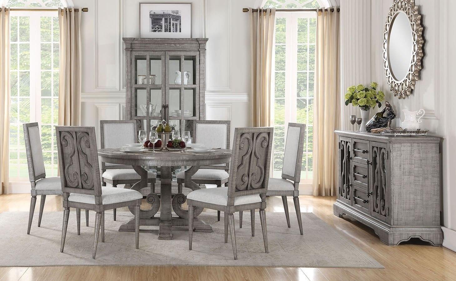 Dining Room Sets.Artesia Round Dining Room Set