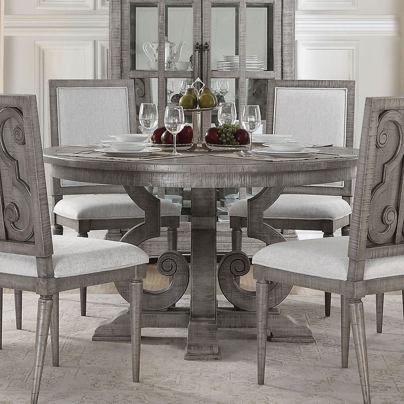 Circular Dining Room: Artesia Round Dining Room Set Acme Furniture