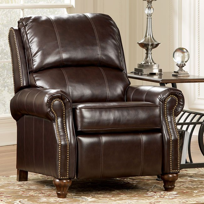 DuraBlend - Mahogany Low Leg Recliner