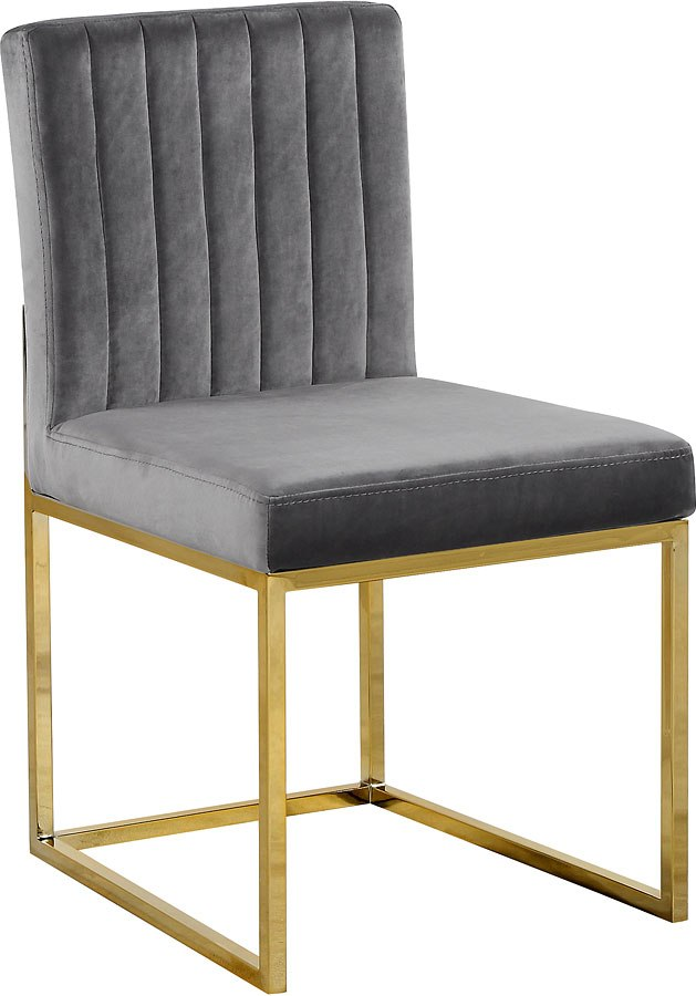 Gie Side Chair Grey Gold Set Of 2