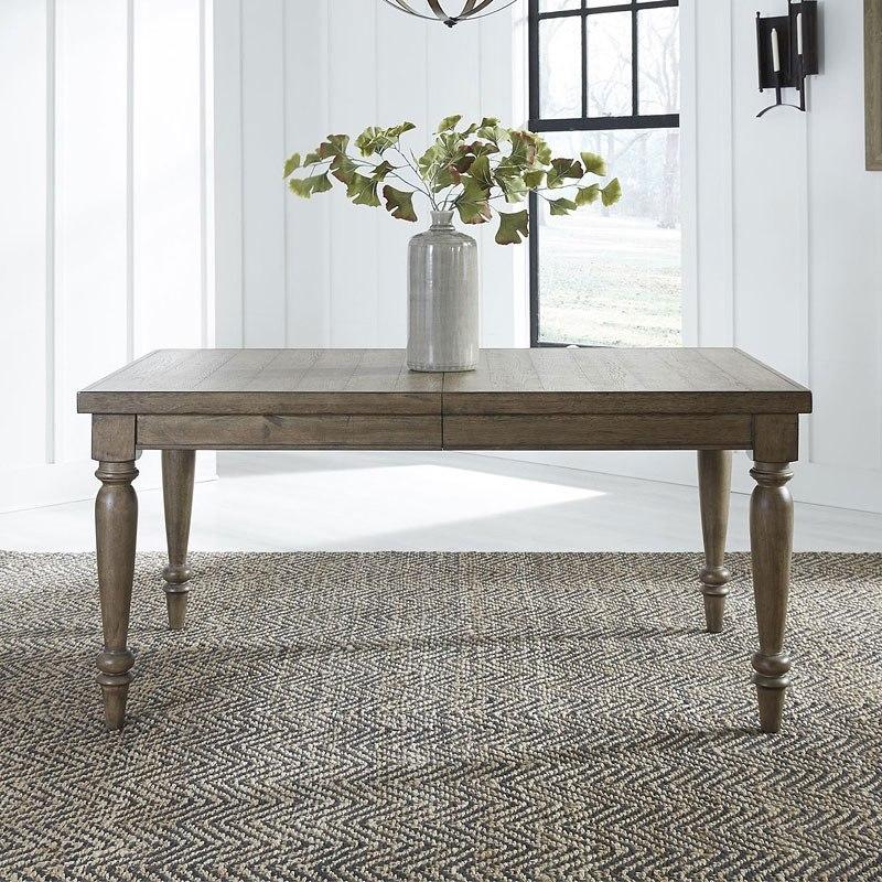 Harvest Home Rectangular Leg Dining Table (Barley Brown