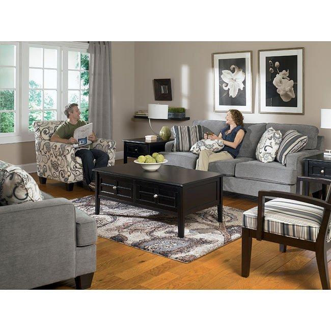 yvette  steel living room set signature designashley
