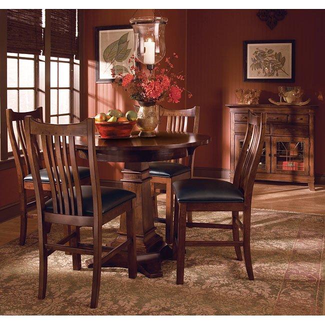 Pub Dining Room Set: Rosecroft Round Pub Dining Room Set Kincaid Furniture