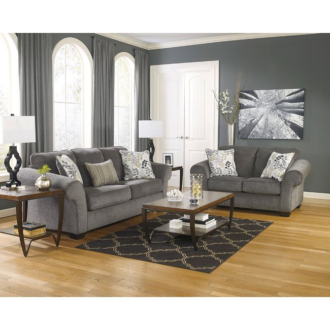 Makonnen Charcoal Living Room Set Signature Design, 1