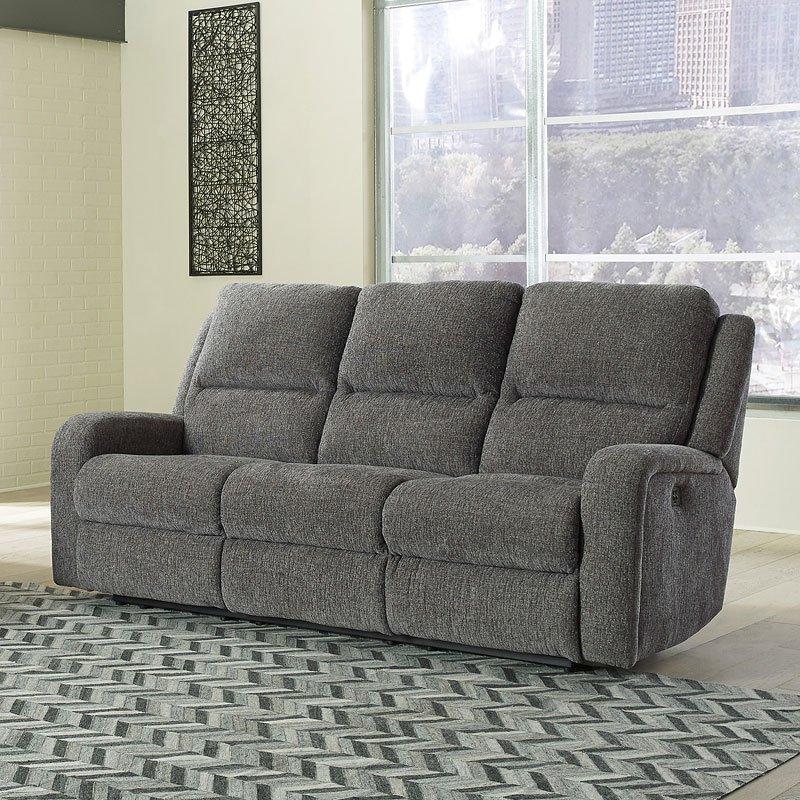 Krismen Charcoal Power Reclining Sofa Signature Design, 1