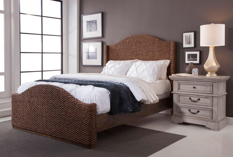Grey Vintage Bedroom: Stonebrook Antique Gray Bedroom Set W/ Seaside Dark Bed
