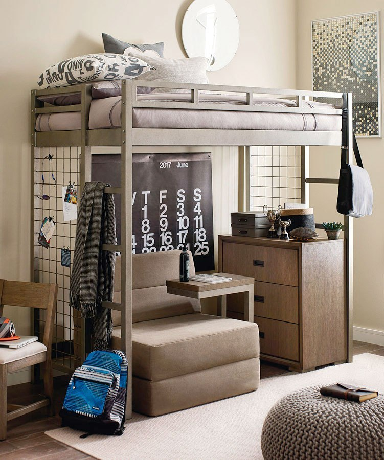 Hudson Metal Loft Bedroom Set