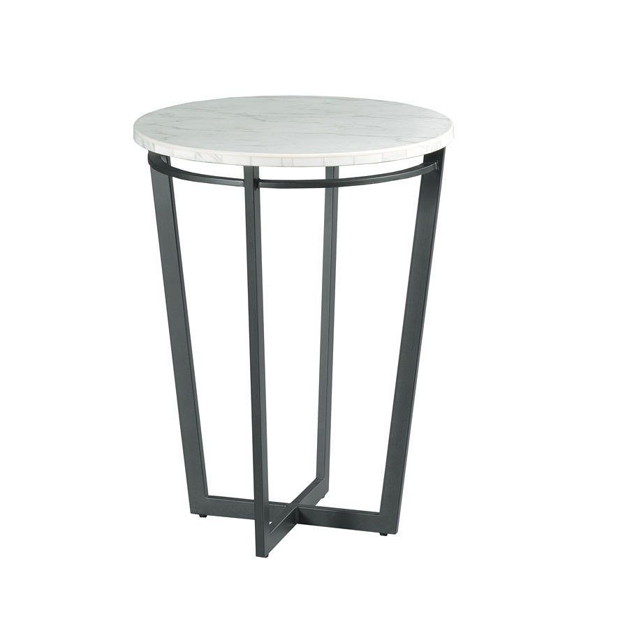 Sofia Round Chairside Table Hammary Furniture Cart