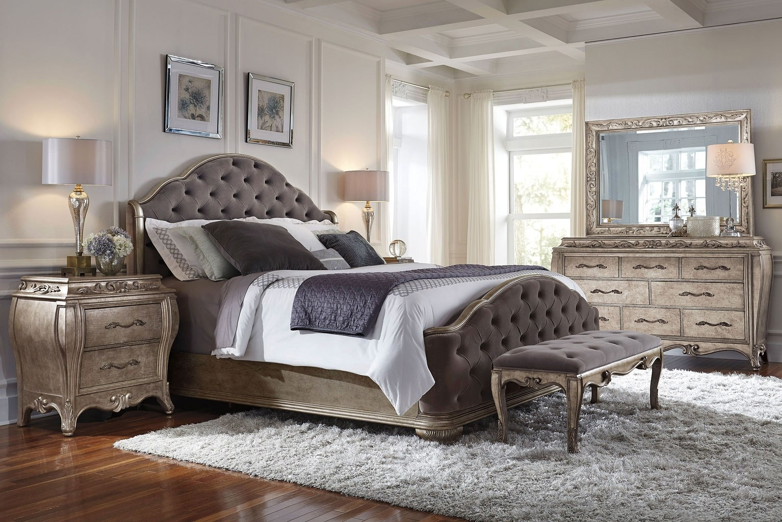 Impressive Upholstered Bedroom Set Ideas