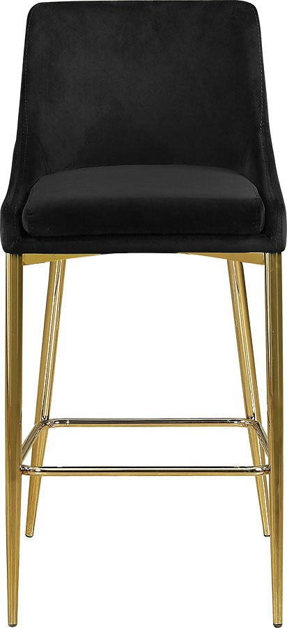 Pleasant Karina Bar Counter Height Stool Black Gold Set Of 2 Unemploymentrelief Wooden Chair Designs For Living Room Unemploymentrelieforg