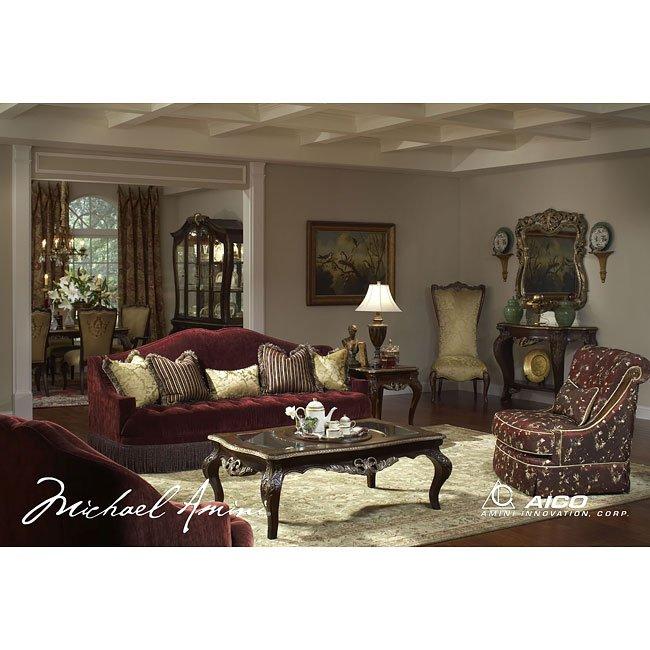 Imperial Court Living Room Set (Eggplant) Aico Furniture