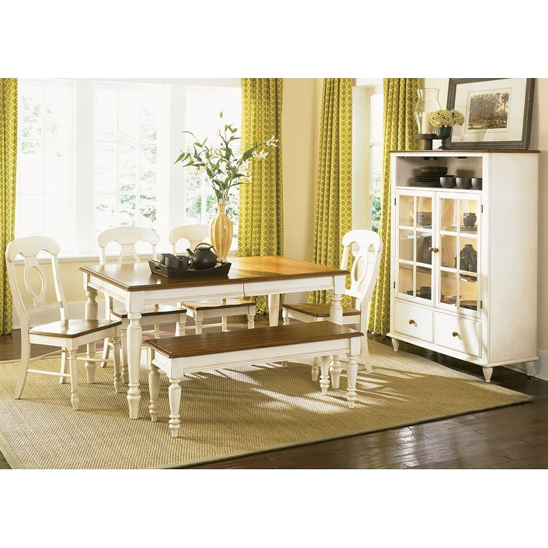 Liberty Furniture Low Country Sand Dining Bench At Hayneedle: Low Country Rectangular Dining Set (Sand) W/ Napoleon