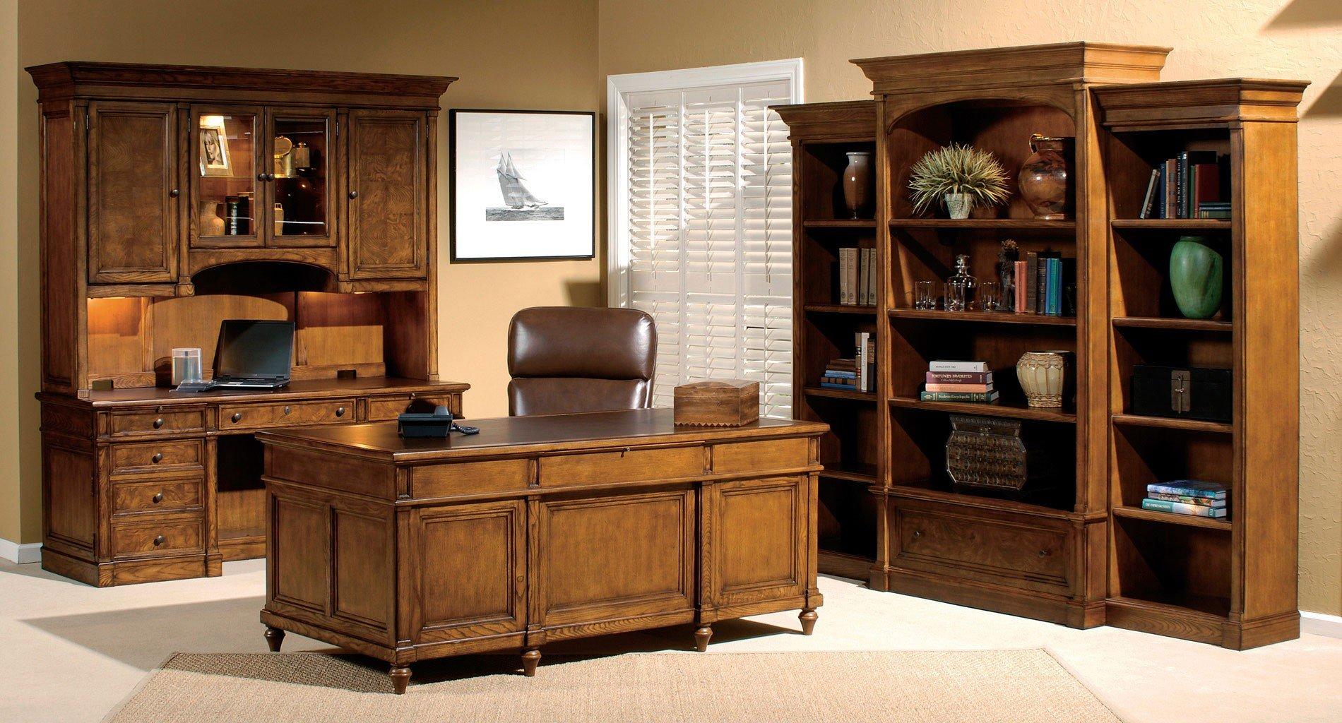 Urban Ash Burl Executive Home Office Set