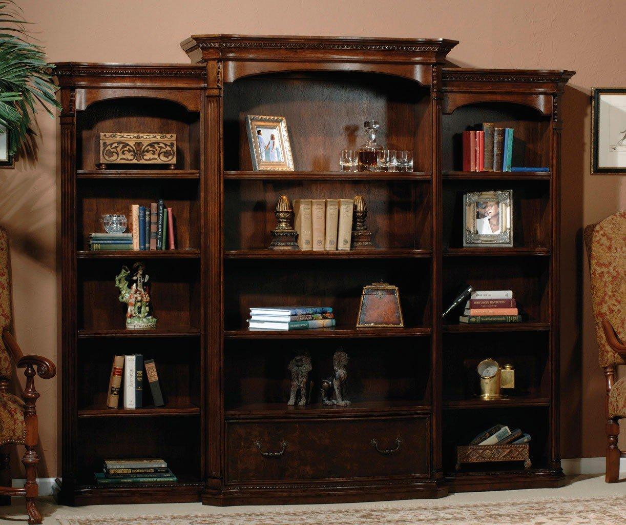 Old World Walnut Executive Bookcase Wall Hekman