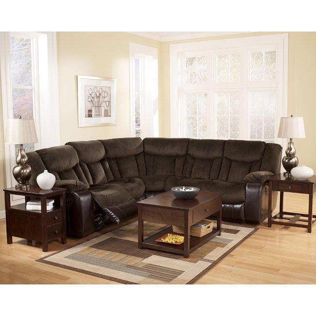 Tafton - Java Reclining Sectional Living Room Set
