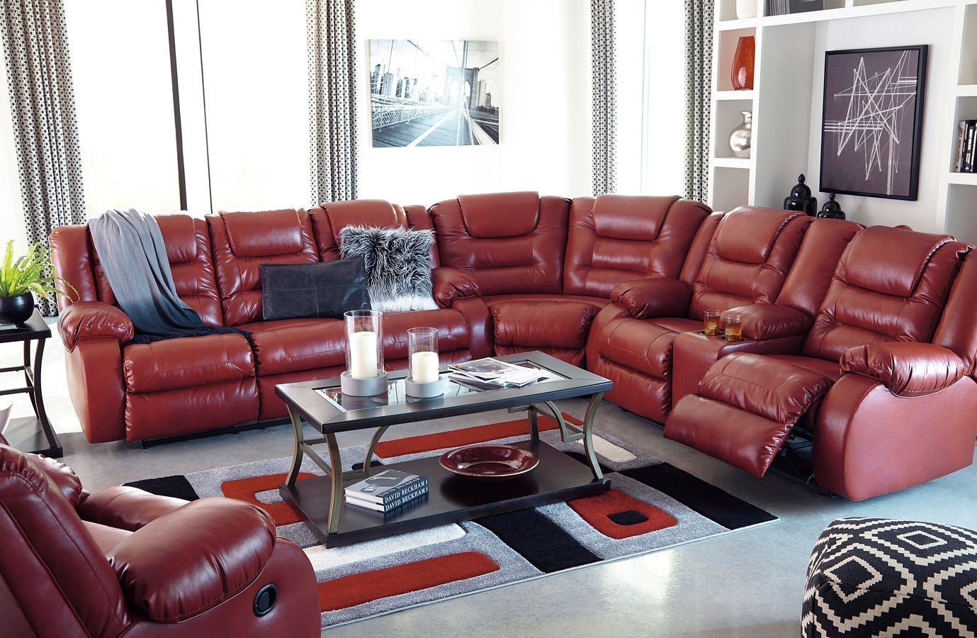 Astounding Vacherie Salsa Reclining Sectional Set Gmtry Best Dining Table And Chair Ideas Images Gmtryco