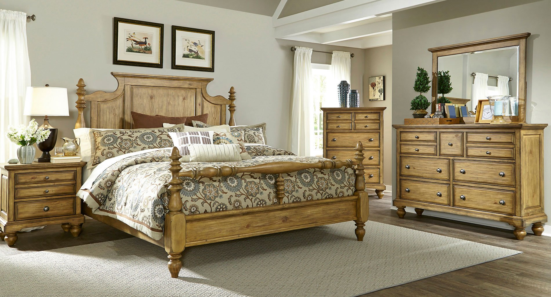 High Country Poster Bedroom Set Honey E