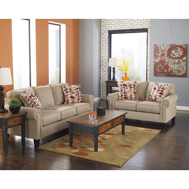 Ekron Oatmeal Living Room Set