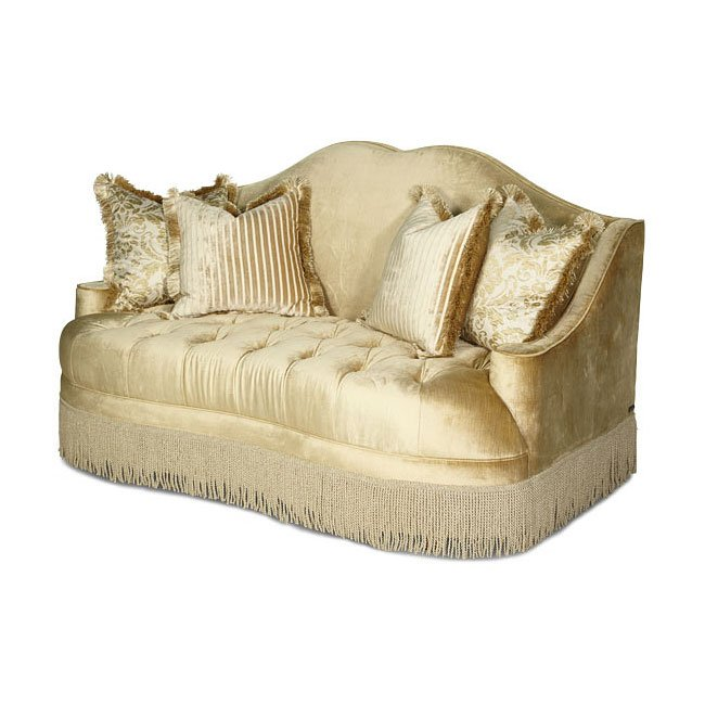 Imperial Court Tufted Loveseat (Pearl)