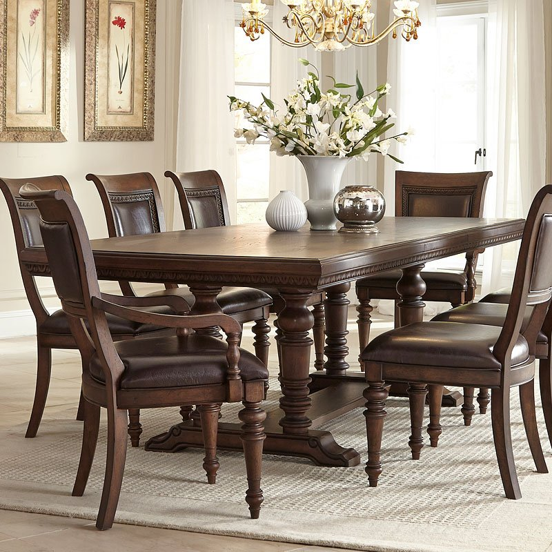 Palencia Trestle Dining Table Klaussner, 1 Reviews | Furniture Cart