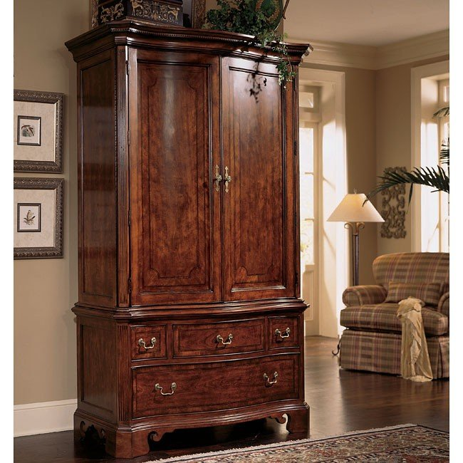 Cherry grove armoire american drew furniture cart - American drew cherry bedroom set ...