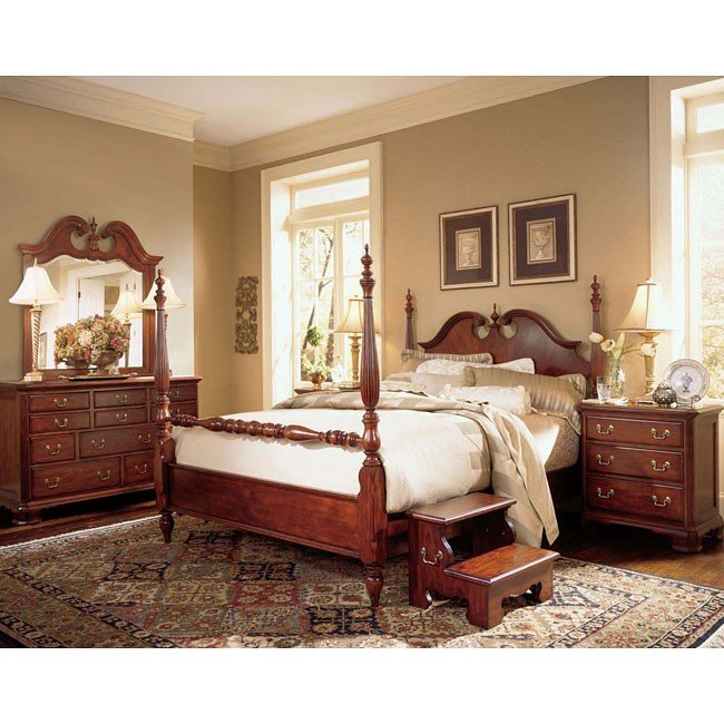 Cherry Grove Low Post Bedroom Set American Drew Furniture Cart