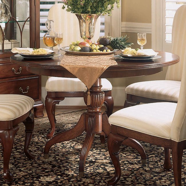 American Drew Dining Room Furniture: Cherry Grove Round Dining Room Set American Drew