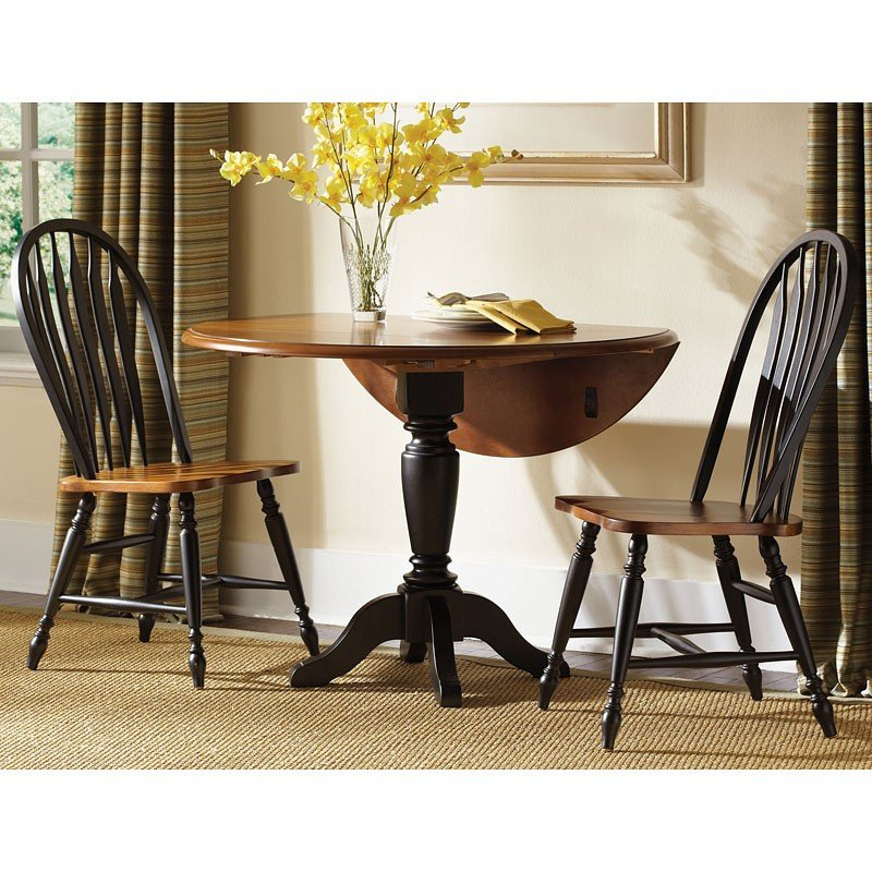 Liberty Furniture Low Country Sand Dining Bench At Hayneedle: Low Country Drop Leaf Dinette (Black) W/ Windsor Chairs