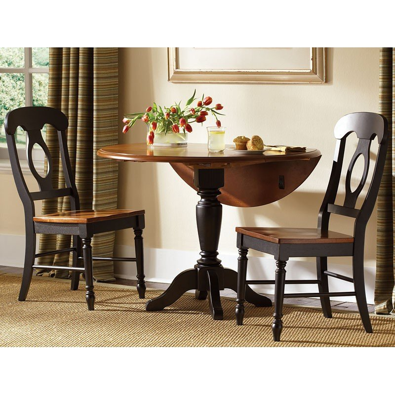 Low Country Drop Leaf Dinette (Black) W/ Napoleon Chairs