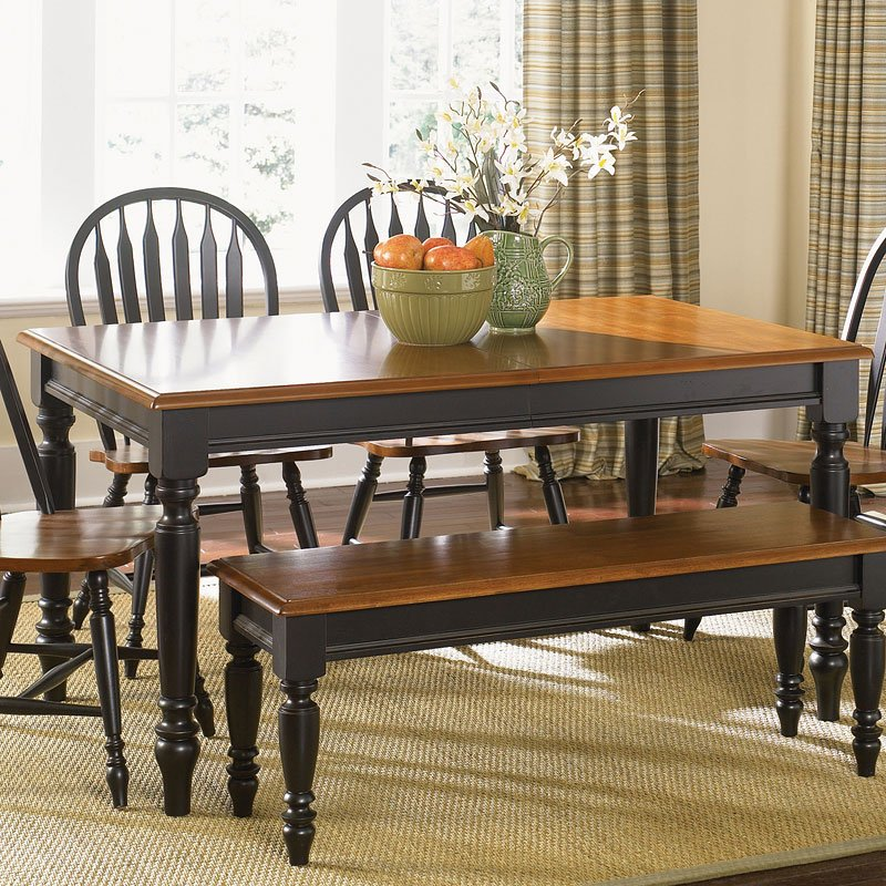 Country Style Dining Table And Chairs: Low Country Rectangular Dining Table (Black) Liberty