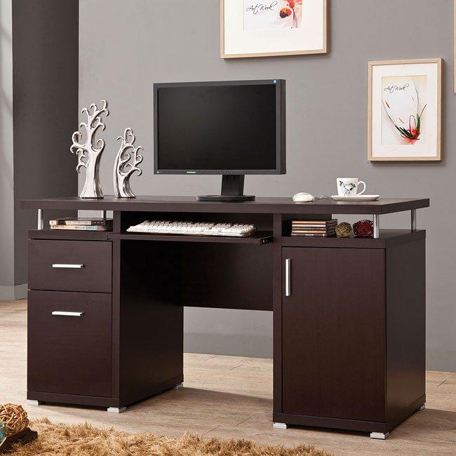Modern Cappuccino Computer Desk